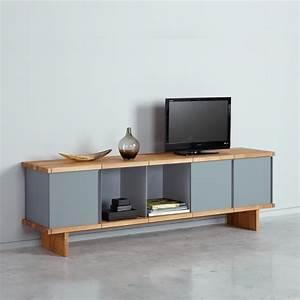 Meuble Chene Gris : meuble tv design ch ne gris arne concept ~ Teatrodelosmanantiales.com Idées de Décoration