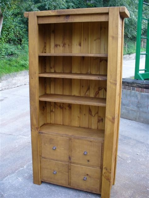 Chunky Bookcase by Chunky Rustic Bookcase With Adjustable Shelves Rustic