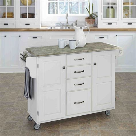 white kitchen island cart home styles create a cart white kitchen cart with concrete 1387