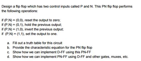 Which Of The Following Was Used To Decorate Islamic - solved design a flip flop which has two inputs ca