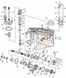 Cobra 3 4 Lower Unit Omc Parts Drawing