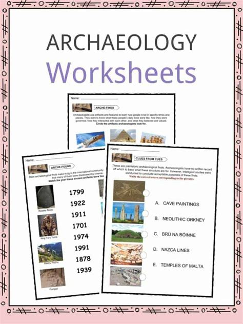 archaeology facts worksheets information  kids