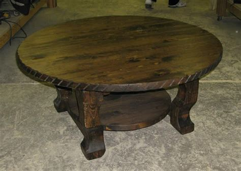 round distressed wood coffee table rustic wooden round coffee table rustic wood and railroad