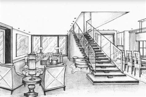 Living Room Sketch Designer Fabio Santos Elegant Interior Design Sketches Appealing 11