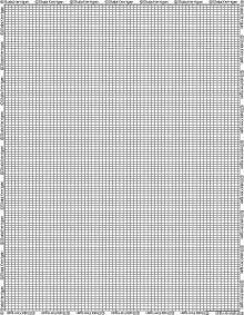 Beading Graph Paper Template