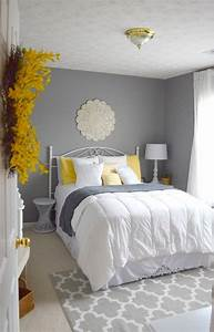 guest bedroom gray white and yellow guest bedroom With decorating ideas for guest bedroom