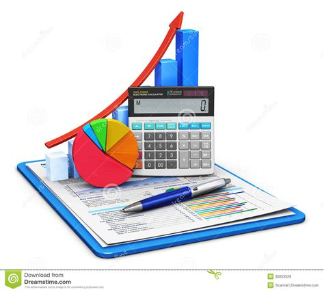 bureau d impot concept de finances et de comptabilité illustration stock