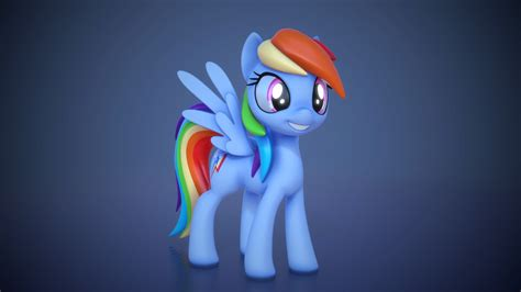 Amazing 3d Rainbow Dash Model