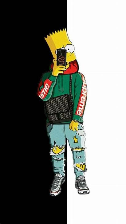 Bart Simpson Simpsons Supreme Wallpapers Hypebeast Pantalla