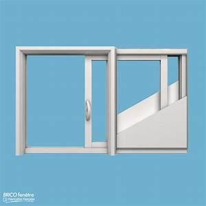 Fenetre coulissante a galandage pvc gamme slide a 1 vantail for Porte fenetre coulissante galandage
