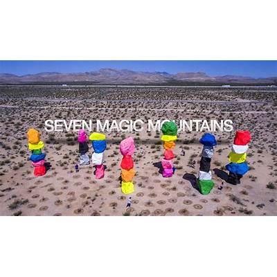 SEVEN MAGIC MOUNTAINS - Art Installation by Ugo Rondinone