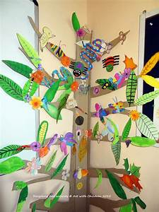 Art with Children: Tree wall display for classroom ...