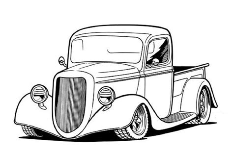 Kleurplaat Hotrod by 36 Chevy Rat Rod Truck Cars Cars Coloring Pages