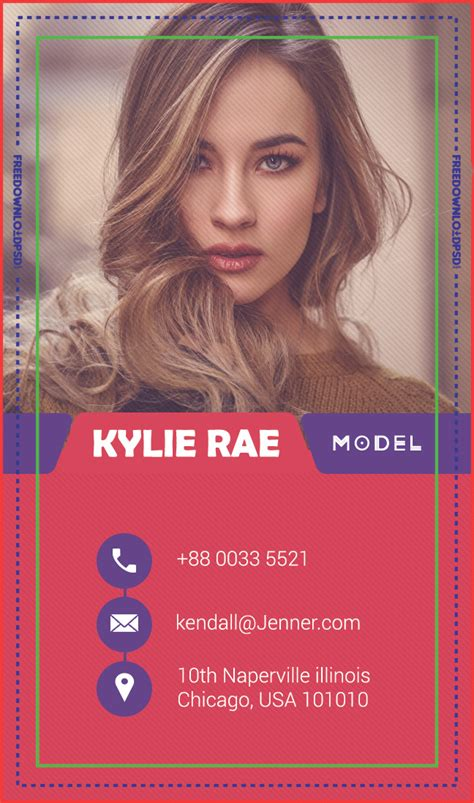 freemodel business card psd template freedownloadpsdcom
