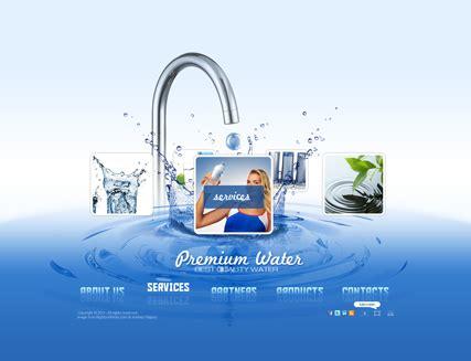 clean water flash website template  website templates