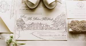 hand drawn venue wedding invitations wedding stationery With wedding invitation venue picture