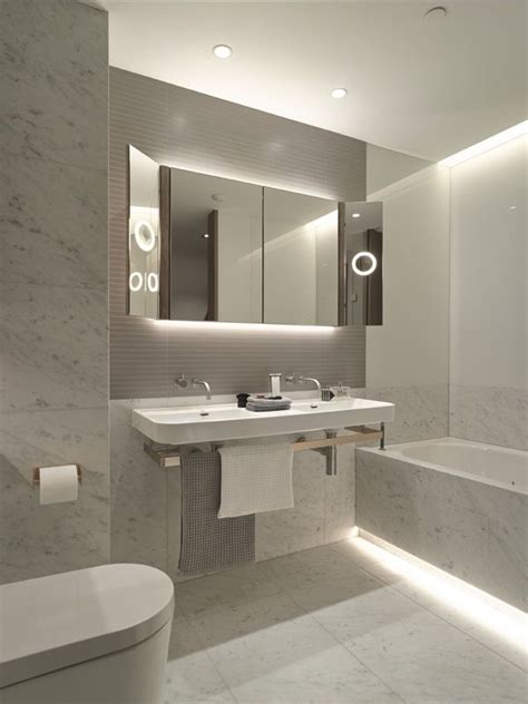 modern bathroom lighting 8 best images about led lights in bathrooms on