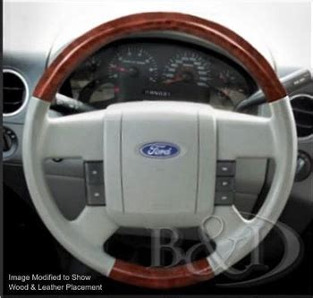 ford  replacement leather  wood steering wheel