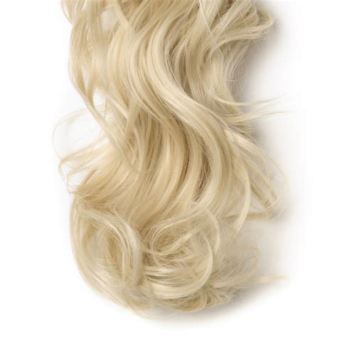 """18"""" 145g #613 Bleach Blonde Curly Synthetic Claw Clip In"""