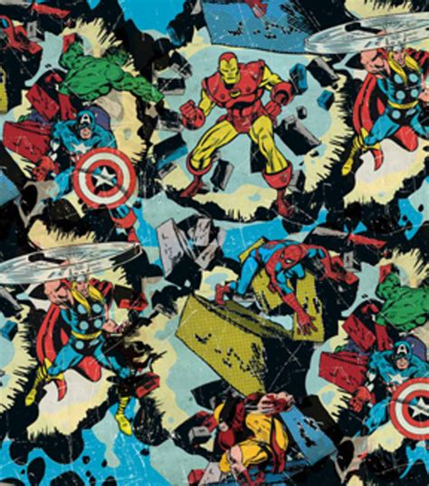 marvel retro smashing cotton fabric  joanncom