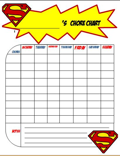 free printable chore charts for boys the joys of boys