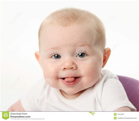 Baby Sticking Tongue Out Stock Image Image Of Innocent
