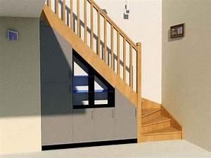 Sous Verre Sur Mesure : placard sous escalier sur mesure penderie tablettes ~ Melissatoandfro.com Idées de Décoration