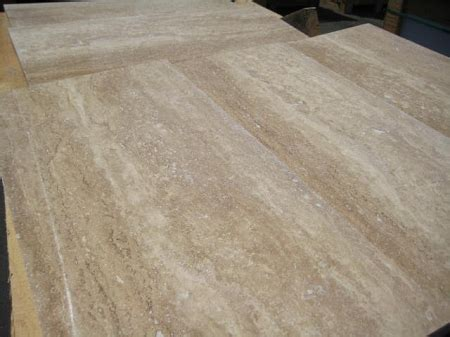 rustico vein cut  polished filled travertine tile