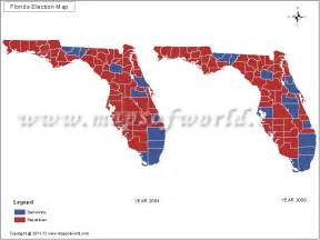 2016 Presidential Election Map by County Florida