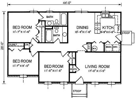 1200 sq ft bungalow floor plans House plans Pinterest