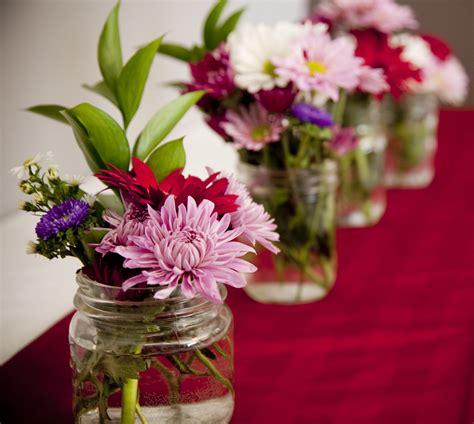 cheap fresh flowers  reusable mason jars