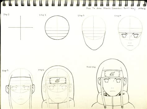 How To Draw Naruto Characters Part 1 Neji By