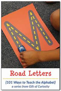 free road letters printable for learning the alphabet With teaching kids to write letters