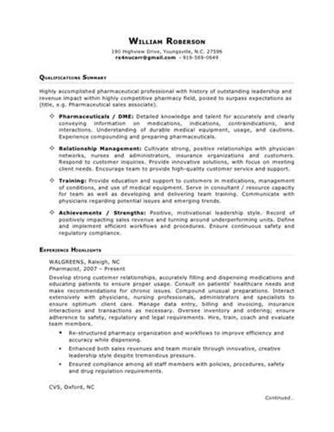 Pharmaceutical Sales Rep Resume No Experience by Pharmaceutical Sales Representative
