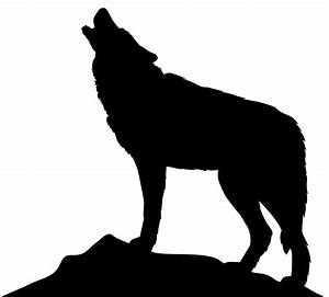 Werewolf clipart wolf silhouette - Pencil and in color ...