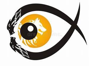 Symbole Du Loup : symbole tribal d 39 oeil de loup illustration de vecteur ~ Melissatoandfro.com Idées de Décoration