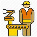 Operator Icon Manufacturing Production Control Industry Engineer