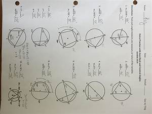 Worksheet  Inscribed Angles Worksheet  Worksheet Fun