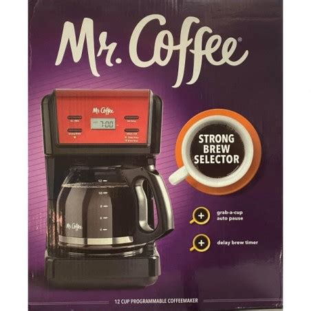 Have your cup of joe hot and ready with this. Mr. Coffee 12-Cup Programmable Coffee Maker