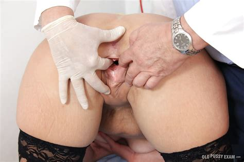 Aged Blonde Lady Lenny Undressing For Examination By