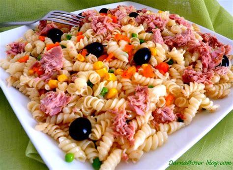 repas avec des pates salade de p 226 tes torsettes darna