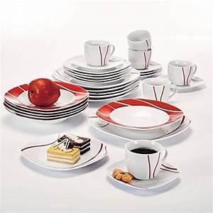 Geschirrset Für 12 Personen : malacasa serie felisa 60 tlg tafelservice aus porzellan kombiservice abgerundet geschirrset ~ Orissabook.com Haus und Dekorationen