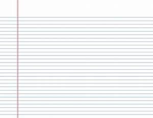 Narrow-Ruled Lined Paper on Letter-Sized Paper in ...