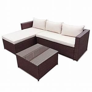 li il polyrattan corner garten lounge mit tisch und kissen With garten planen mit lounge tisch balkon