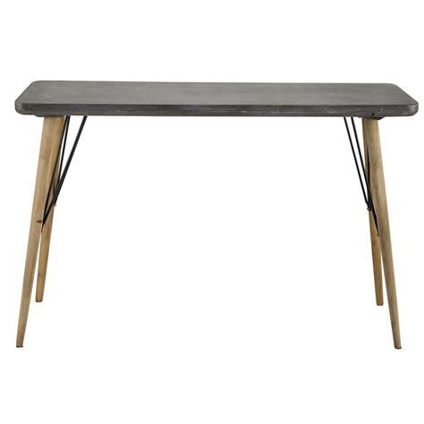 Table Console En Bois Grise L 120 Cm Cleveland Maisons