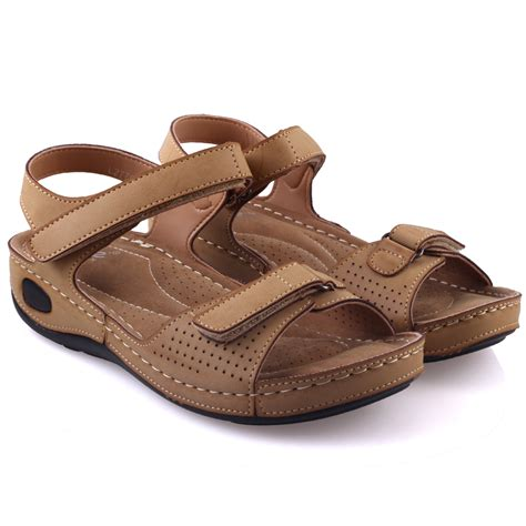 comfortable sandals for walking unze womens nuty comfortable walking sandals uk size 3 8 beige