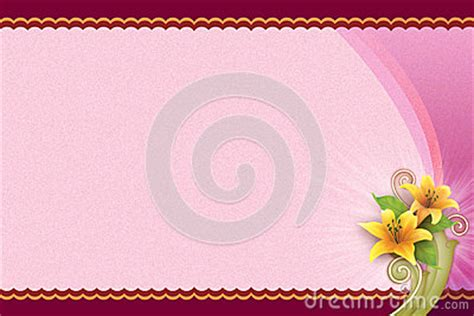 pink background  flower  blank card royalty