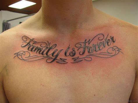 alluring wording tattoo  chest