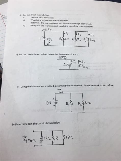 Solved For The Circuit Shown Below Find Total Res