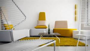 Grau Weiße Couch : 25 wohnzimmer ideen einrichten mit gelben akzenten ~ Michelbontemps.com Haus und Dekorationen